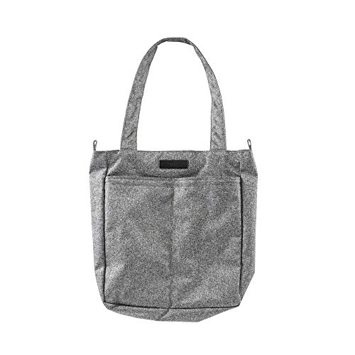 JuJuBe Be Light Everyday Lightweight Zippered Tote Bag Onyx Collection, Gray Matter, One Size