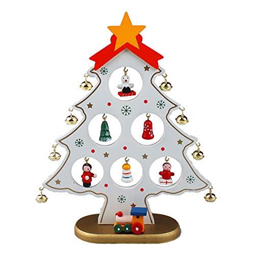 Árbol de Navidad de mesa Árbol de Navidad de madera con adornos navideños en miniatura Navidad/Navidad Decoración para...