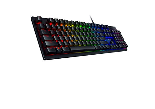 Razer Huntsman Gaming Keyboard: Fastest Keyboard Switches Ever - Clicky Optical Switches - Customizable Chroma RGB Lighting - Programmable Macro Functionality - Classic Black