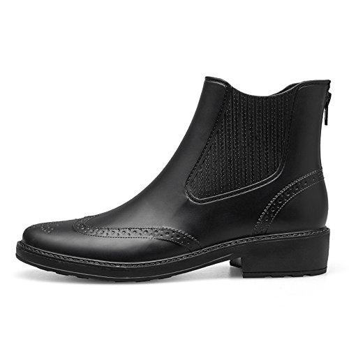 Chelsea Des Noir De Chaussures Fermeture Tongpu La Pluie Éclair Cheville Femmes Bottillons aTWvxRUw7q