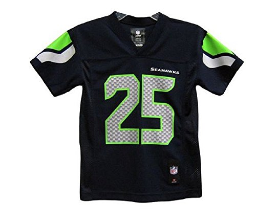 Richard Sherman Seattle Seahawks #25 NFL Youth Mid-Tier Team Color Jersey Navy