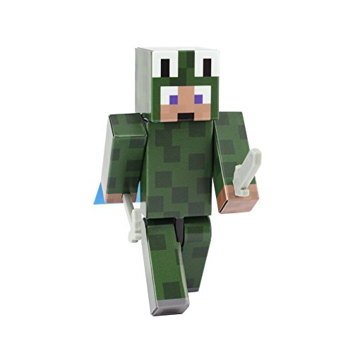 Minecraft Villager Costume (Lizard Costume Action Figure Toy, 4 Inch Custom Series Figurines by EnderToys)