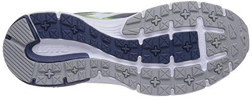 Lotto Sport MOONRUN - zapatillas de running de goma hombre multicolor - Mehrfarbig (BLU MED/MET SIL)