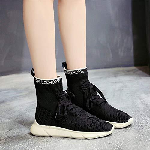 Scarpe Allenamento Maglia Calze B Da Beige Donna Nere Sneakers Yan E Elastiche Alte O1Ipq1fSc