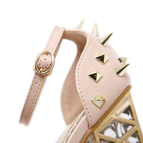 Women's Chunky Heel Sandals,Ladies Summer Ankle Straps High-Heels Open Toe Sandal by Sunskyi (Image #4)