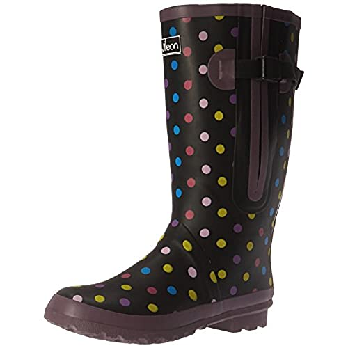 359217fbade well-wreapped Jileon Extra Wide Calf Rubber Rain Boots for Women ...