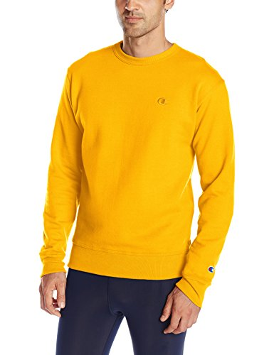 Champion Gold Crew Sweatshirt (Champion Men's Powerblend Pullover Sweatshirt, Team Gold, X-Large)