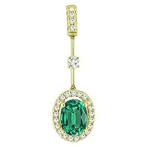 Diamond Unisex Teardrop Pendant Necklaces - PY11726A-3000
