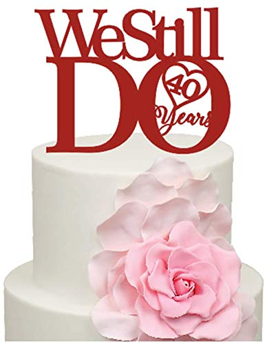 40th Anniversary Cake Decorations