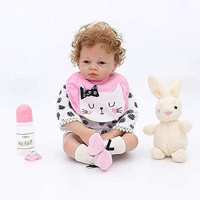 "OtardDolls Soft Vinyl Silicone Reborn Doll 22"" Reborn Baby Doll Lifelike Baby Doll Children Gifts"