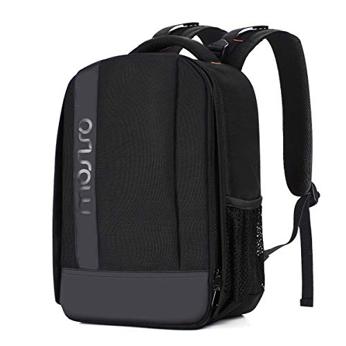 MOSISO Camera Backpack, DSLR/SLR/Mirrorless Camera Case Water Repellent Buffer Padded Shockproof Bag with Customized Modular Inserts and Tripod Holder Compatible with Canon, Nikon, Sony etc, Black