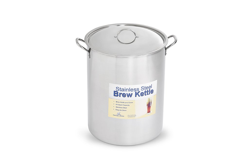 Polar Ware Stainless Steel Brew Pot with Cover, 60-Quart