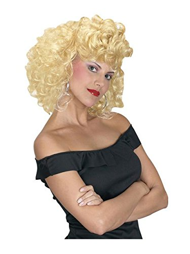 Fun World Cool 50s Girl Wig,Blonde,Standard