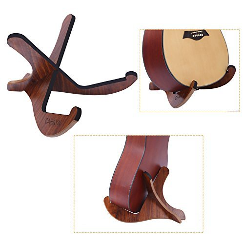 CAHAYA Wooden Guitar Stand Musical Detachable Instrument with Y Shaped Pieces for Acoustic Classical Guitar