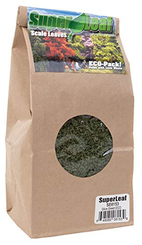 Scenic Express Super Leaf Scale Leaves - Olive Green - 24oz Eco Pak
