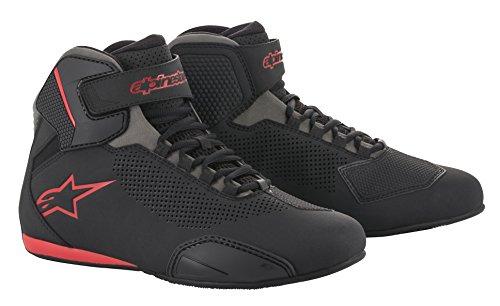 Alpinestars Men's 2515618131105 Shoe (Black/Grey/Red, Size 10.5) (Shoes Motorcycle Alpinestar)