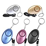 OFNMY 5Pcs Safe Sound Personal Alarm Keychain 130 db Safesound Safety Emergency Alarms with LED Lights Emergency Safety Alarm for Women, Kids, Girls, Children