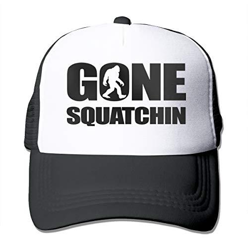CLD Custom Gone Squatchin Bigfoot Adjustable Men/Women Mesh Hat Trucker Baseball Cap Black