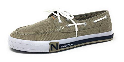 Nautica Mænds Spiler Lace-up Båd Sko, Afslappet Dagdriver, Mode Sneaker Vaskes Jute