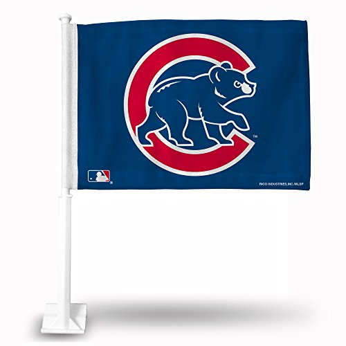 Rico MLB Cubs Secondary Design Car Flag, 8 x 1, Logo Color