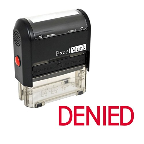 (ExcelMark Self-Inking Rubber Stamp - Denied - Red Ink)