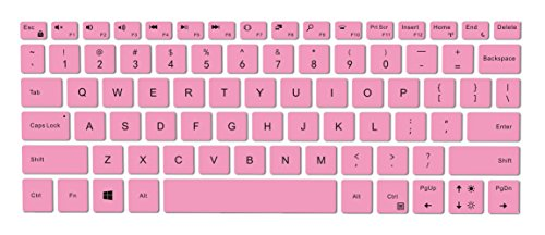 Leze - Ultra Thin Silicone Laptop Keyboard Skin Protector for 13.3-Inch Dell XPS 13 9370 9380,XPS 13 9365 2-in-1 Touch-Screen Laptop - Pink