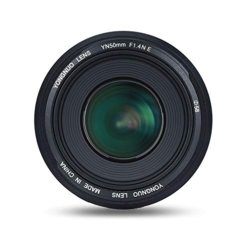 YONGNUO YN50mm F1.4N E Standard Prime Lens Large Aperture Live View Focusing Auto/Manual Focus for Nikon Cameras