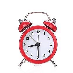 BAODAM Creative Smart Clocks for Bedrooms Living Room Clock Decoration Clock Digit Clock Dot Clock Desk Clock Twin Bell Silent Alloy Stainless Metal Alarm Clock