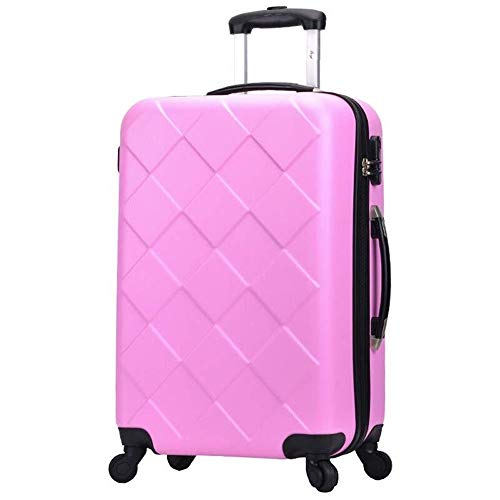 RUIMA Luggage Trolley Trolley 20 inch Men and Women Double Bearing Caster Suitcase Diamond Pattern Series Luggage (Color : F2, Size : 20 inches)
