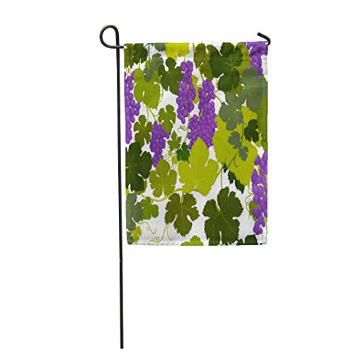 - Semtomn Garden Flag Grape Vines in Wine Country Airbrush Painting by Artist 12