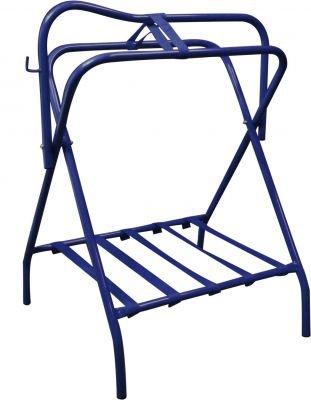 Showman Western Or English Blue Folding Saddle Rack