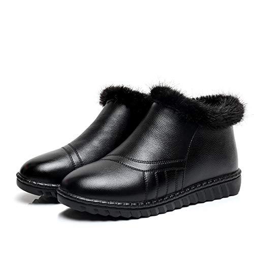 A Acolchado Zapatos Trend Botas Algodón Invierno Nieve Pingxiannv Prueba De Cuero Mujer Agua zYSwTqgP