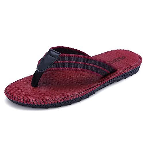 Shukun Chanclas de los hombres Parejas Hombres y Mujeres Modelos Chanclas para Hombre Sandalias y Zapatillas de Verano Zapatillas sin Cordones para Hombres Clip de Estudiante de Verano