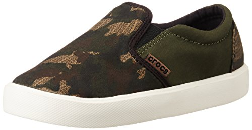 Crocs Citilane Novelty Slipon Sneaker Slip-On (Toddler/Little Kid), Camo, 3 M US Little Kid by Crocs