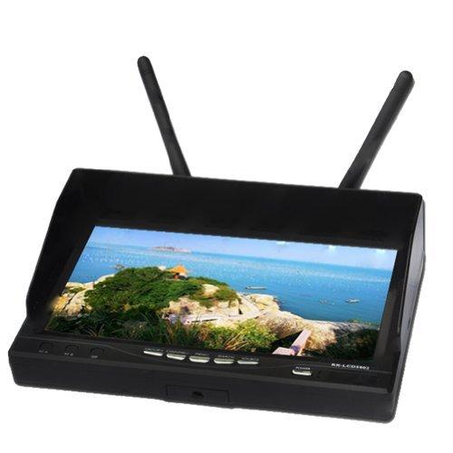 RX-LCD5802 デュアル5 8GHzビデオレシーバーモニター(FPV/32CH /デュアルディバーシティー/7インチHD LCD 画面)