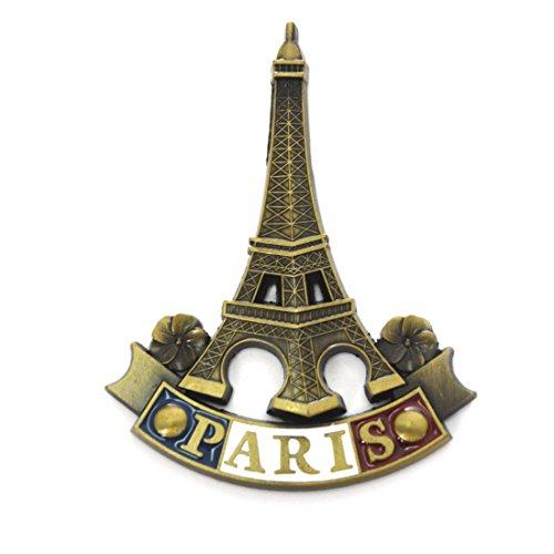 Retro Metal Fridge Magnets - Ehonestbuy Paris Eiffel Tower Magnet Souvenir Office Magnets, Dry Erase Board Magnets (006)