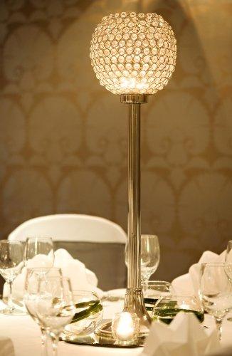 Globo de cristal del pilar portavelas centros de mesa ...