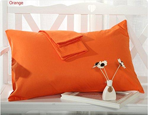 "MoonRest - 0 Cotton Body Pillow Pillowcase w/ Zipper 21"" X 55"" (Orange)"