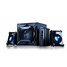 Genius SW-G2.1 2000 - 45 Watts RMS - 2.1 True Beast Power Gaming Speaker System with Earth Pounding Subwoofer Bass and Hyper Treble Sattelite Audio for Iphone, Android, Tablets, Laptops, PC, and Apple (G2.1 2000)
