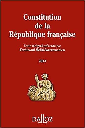 Lire en ligne Constitution de la République française 2014 pdf, epub