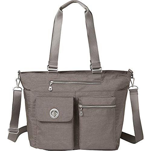 Baggallini Hong Kong Laptop Tote, sterling Shimmer