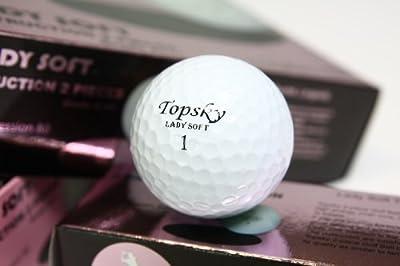 Topsky Titanium Lady Soft Balles de golf 2 pièces Blanc
