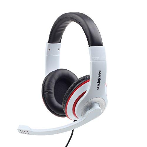& # x2728; NET Lösungen & # x2728; PC-Gaming-Headset mit Mikrofon, Musik, Video, Skype   weiß