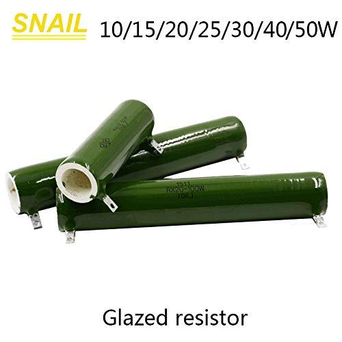 Maslin 10w 15w 20w 25w 30w 40w 50w for Industrial resistors,Ceramic Resistor,Ceramic,Wire Winding,Enamel,Glazed Resistor, (Volume: 50W, Value of Resistance: 1 ohm) ()