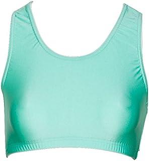 Age 5-6 Years Katz 0, Royal Blue Katz Dancewear Ladies Girls Nylon Lycra Dance Gym Sports High Neck Crop Top KCTN-7