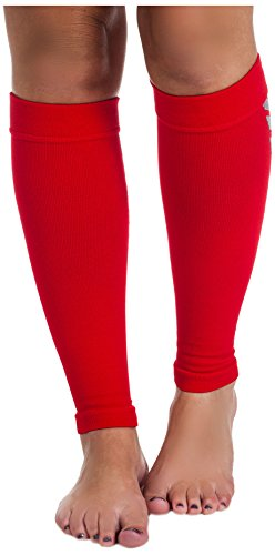 Remedy Calf Compression Sleeve Socks, Red, Large by Remedy (Image #1)