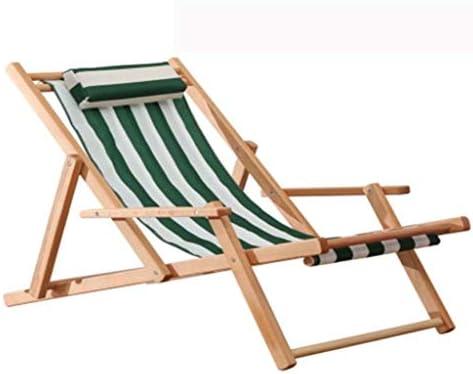 JPVGIA Tumbona de Madera en la Playa, tumbonas al Aire Libre para el Ocio Silla de jardín Plegable de Madera para jardín Acampar en la Playa (Color : Green): Amazon.es: Hogar