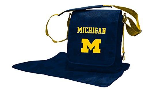 Lil Fan Diaper Messenger Bag, NCAA College Michigan