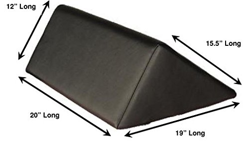 "Therapist's Choice® Triangle Massage Bolster Extra Large, 19"" x 12"" x 20"" x 15.5"", (Black) from Clinical Health Services, Inc."