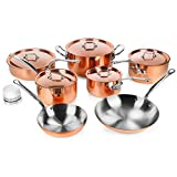 Mauviel M'heritage 150S 12-piece Copper Cookware Set